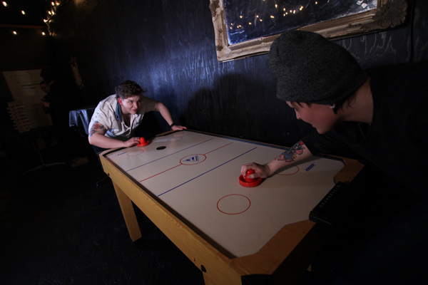 Seattle Escape Game Rooms banquet room Air Hockey